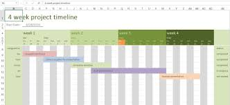Timeline Template Excel 4 Week Project Timeline Excel Templates For Every Purpose