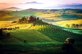 fields italy nature beautiful tuscany fields cloudy toscany sky