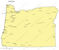 oregon map with cities oregon outline map with capitals major cities digital vector
