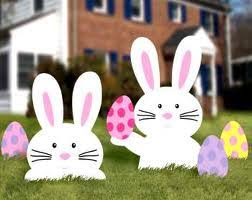 outdoor easter decorations 3 uses for 2 bunnies from www theseasonalhome this is use 2