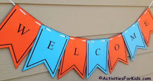 free printable vertical banner template printable welcome banner template first day of school banners