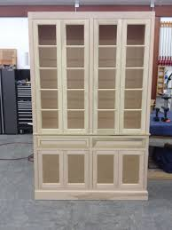 built in cabinets in dining room hand made unfinished china cabinet built in by j u0026 s woodworking