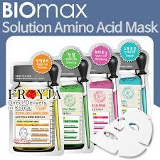 qoo10 biomax solution amino acid mask 23ml wrinkle