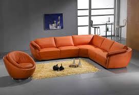 Orange Leather Sectional Sofa Orange Sectional Sofa Leather 767 Sectionals