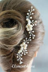 pearl hair accessories dress hair pins color dress wedding hair