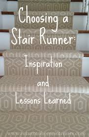 Stair Landing Rug Choosing A Stair Runner Some Inspiration And Lessons Learned