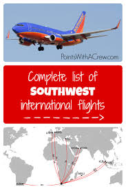 Virgin America Flight Map by Complete List Of Southwest International Flights Points With A Crew