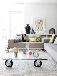 Modern Interior Design With Coffee Tables On Wheels Emphasizing - Interior design coffee tables