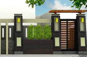 desain warna gapura model pagar rumah minimalis dengan gapura cantik sarumpun