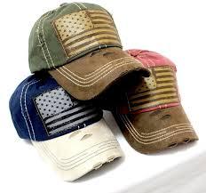 Usa Flag Hats New Army Green Tan Suede Bill American Flag Vintage Baseball Hat