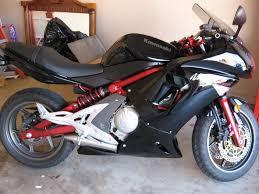 kawasaki ninja 650r red and black motorcycles pinterest