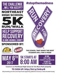 5k and 1k fun run to support addiction prevention and treatment