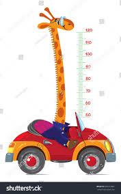 Home Design 3d Wall Height Giraffe On Car Meter Wall Height Stock Vector 683917081 Shutterstock