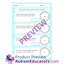 skill elapsed time word problems worksheets