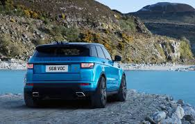 light blue range rover range rover evoque celebrates 6th anniversary with special edition