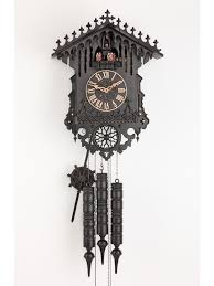 decor antique dark cuckoo clock for classic interior clock design