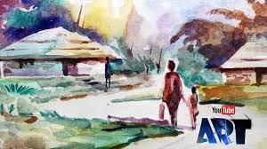 watercolor painting by mukesh must watch art guru people agp