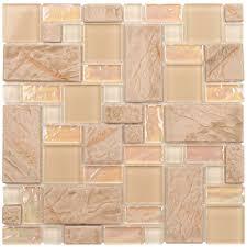 shop elida ceramica textured sand cubes random mosaic glass metal