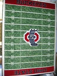 Ohio State Runner Rug Ohio State Buckeyes Crochet Rug Handmade Block O Throw With Regard