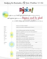 worksheet to teach the 9th beatitude of the christian life from