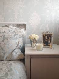 Bedroom Design Ideas Duck Egg Blue Duck Egg Bedside Table Feature Wall Damask Laura Ashley Josette