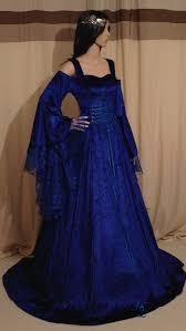 royal blue medieval dress handfasting dress fantasy wedding