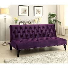 Overstock Sofa Bed Xnron Button Tufted Purplevelvet Sofa Bed Lounger With Nailhead