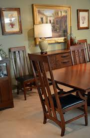 san diego mission style dining room craftsman with stained glass