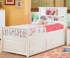elegant full size white storage bed with bookcase headboard 89