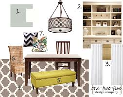 one two five design company dining room mood board home