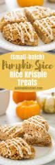 small batch pumpkin spice rice krispie treats baking mischief