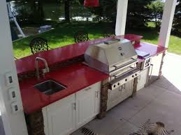 Outdoor Kitchen Sinks And Faucet Newest Outdoor Kitchen In Northern Michigan Mynorth Community