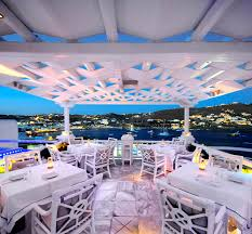 luxury restaurants in ornos bay kivotos mykonos hotel