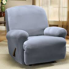 furniture elegant decorative wingback recliner with footstools on