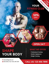 fitness flyer template free fitness and psd flyer template