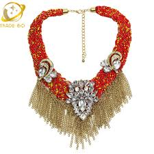 fashion collar necklace wholesale images Bib chunky choker necklace unique tassel design fashion necklace jpg