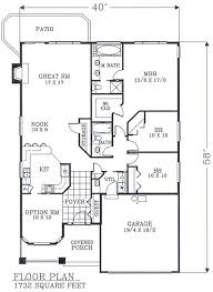 no basement stairway access first floor plan of bungalow craftsman narrow