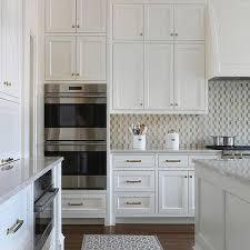 white and gold mosaic kitchen backsplash tiles design ideas