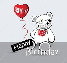happy birthday card cat bear u2014 stock vector novkota1 16203163