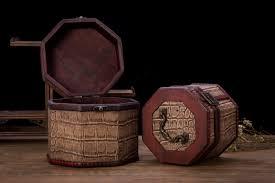 Vintage Style Home Decor Wholesale Vintage Style Crocodile Pattern Wooden Octagon Jewelry Treasure
