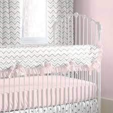 pink and gray chevron crib rail cover carousel designs