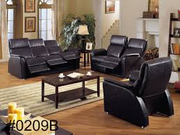 black genuine leather sofa with recliners