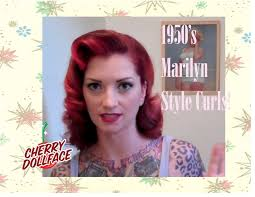 nice hairstyle for woman late 50s vintage 1950 s curly hair tutorial ala marilyn monroe by cherry
