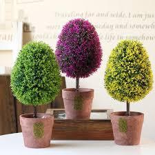 hyson shop oval shape small tree artificial bonsai pot planter