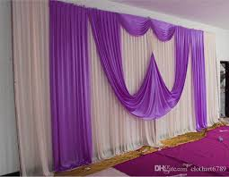 3 6m 10ft 20ft backdrops with swag for wedding stage high