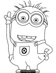 despicable minion coloring kids printable kids