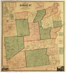 Essex England Map by Essex County Ny 1858 Wall Map Reprint