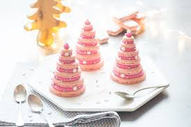 cuisine framboise sapins de macarons à la framboise cuisine addict cuisine