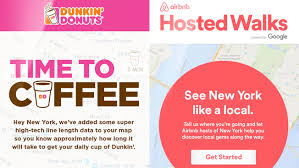how dunkin u0027 donuts and airbnb are turning google searches into