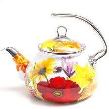 the pioneer woman flower garden tea kettle 2 3 qt walmart com